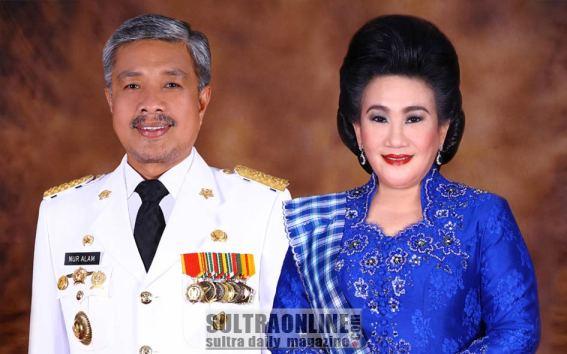Bapak Gubernur Sultra Nur Alam dan Ibu Tina Nur Alam